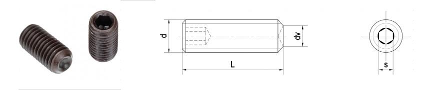 Vít trí lục giác đầu lõm DIN 916