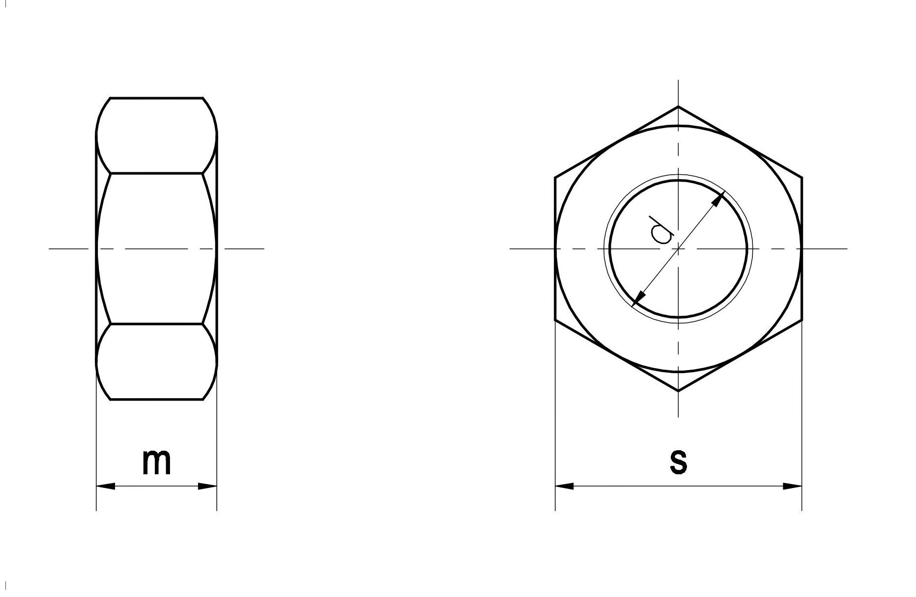 Đai ốc (Ecu) tiêu chuẩn DIN 934