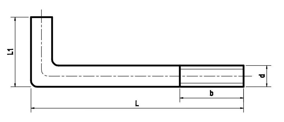 Bu lông móng (Bu lông neo) chữ L