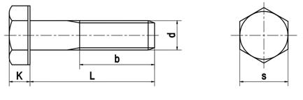 Bu lông lục giác ngoài theo tiêu chuẩn DIN 931
