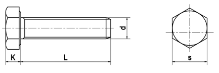 Bulong lục giác ren suốt DIN933